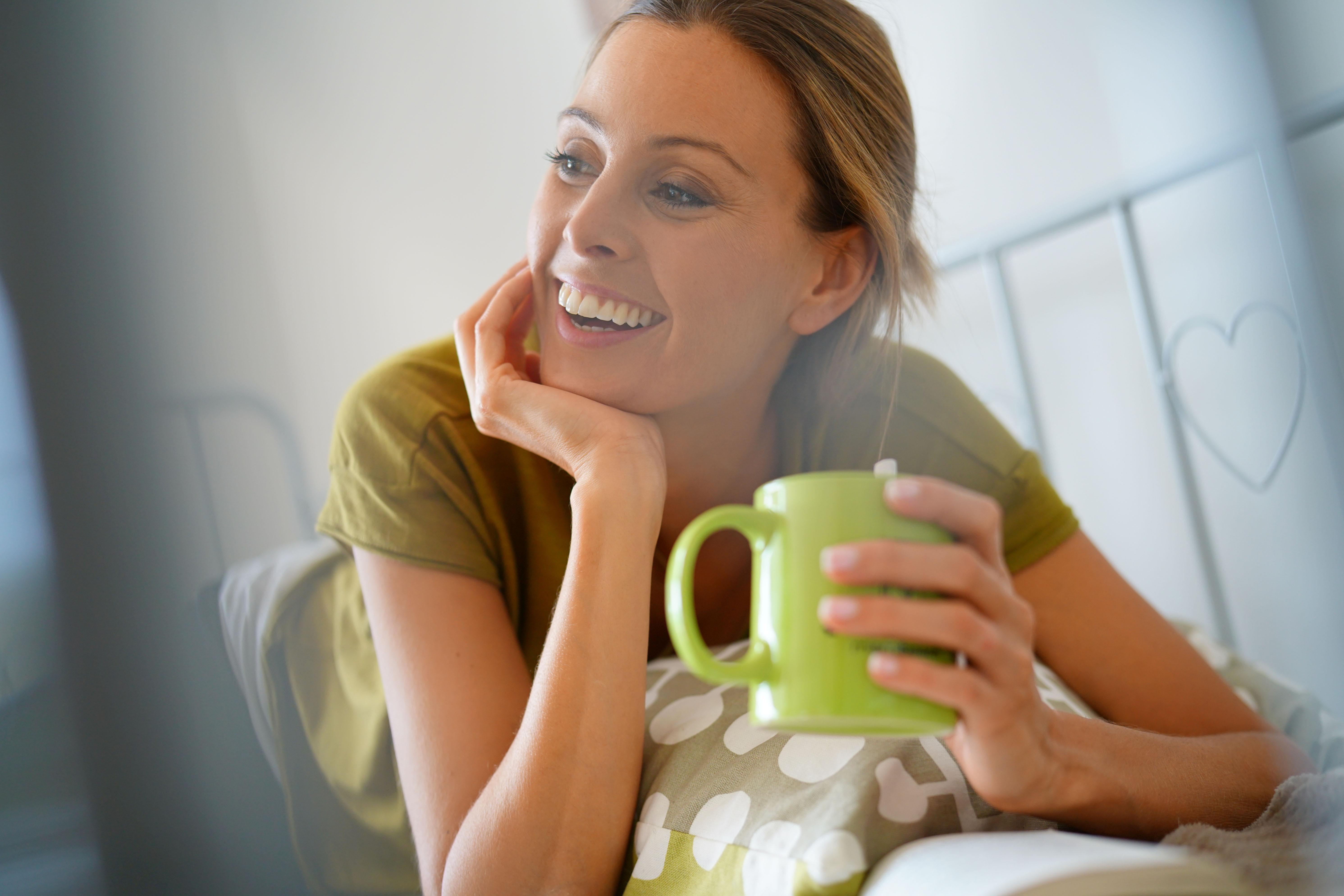 žalia arbata nauda, gera savijauta