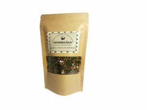 Hojicha ir Genmaicha japoniškos žalios arbatos dovanų rinkinys su sieteliu
