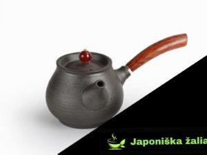Juodas keramikinis arbatinukas su dangteliu