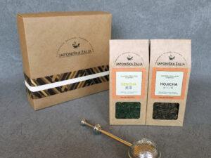 2-jų arbatų rinkinys su sieteliu, Sencha ir Hojicha