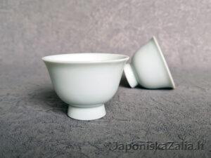 Keramikinis puodelis Gyokuro arbatai, 40 ml baltas