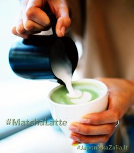 japoniška matcha latte